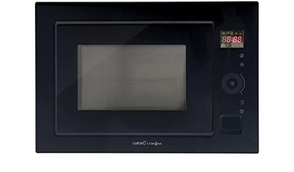 cata MC 25 GTC - Microondas empotrable, color negro: Amazon ...