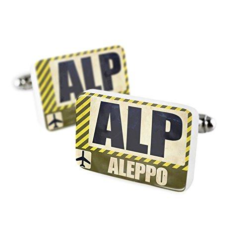 Cufflinks Airportcode ALP Aleppo Porcelain Ceramic NEONBLOND