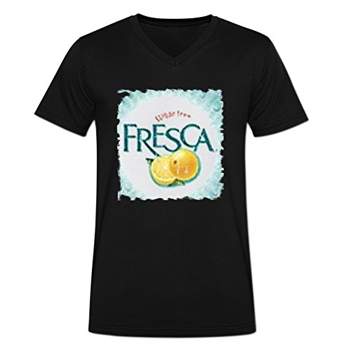 novelty-eworld-mens-fresca-beverage-cool-faded-look-fans-v-neck-t-shirt-l-black