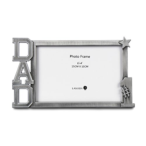 LASODY NO #1 DAD Metal Photo Frame