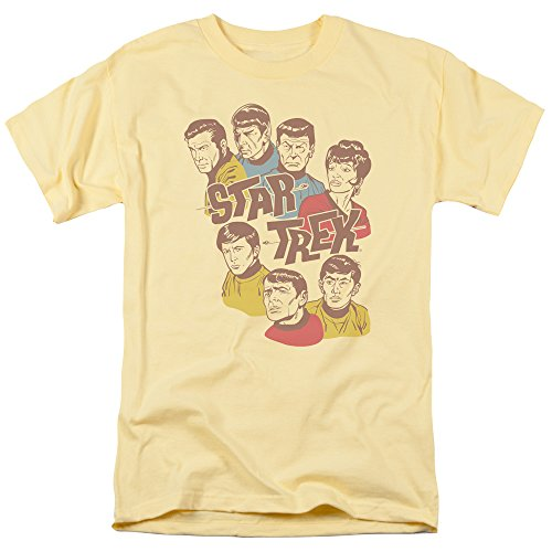 Star Trek - Retro Illustrated Crew T-Shirt Size L