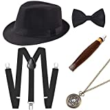 BABEYOND-1920s-Mens-Gatsby-Costume-Accessories-Set-30s-Panama-Hat-Elastic-YBack-Suspender-Pre-Tied-Bow-Tie-Poc