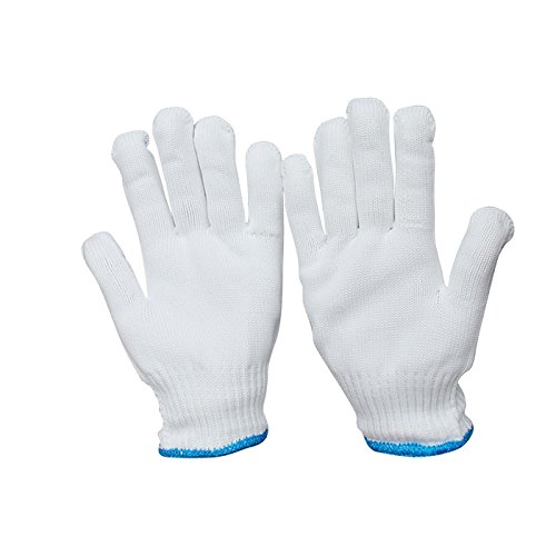 Marketty Gloves Heat Resistant Oven Glove Hot Surface Handler,Oven Mitts, BBQ Gloves for Cooking, Grilling, Baking,White, 6-Pack (3 Pair) ()