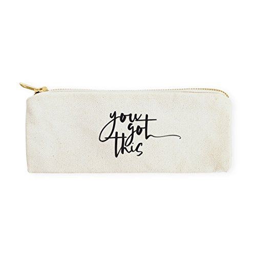 (The Cotton & Canvas Co. You Got This Pencil Case, Cosmetic Case and Travel Pouch for Office and Back to School)