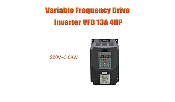 Amazon com: 3KW 220V 4HP 13A VFD Variable Frequency Drive Inverter