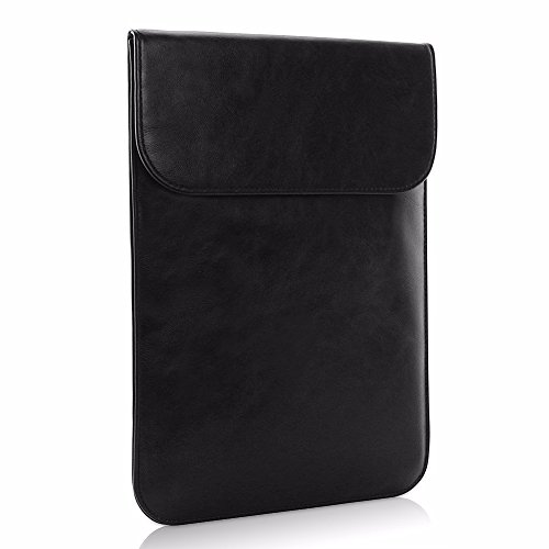 All-inside Black Synthetic Leather Sleeve for MacBook Air 13 Pro 13 with/without Retina and New MacBook Pro 13 with/without Touch Bar