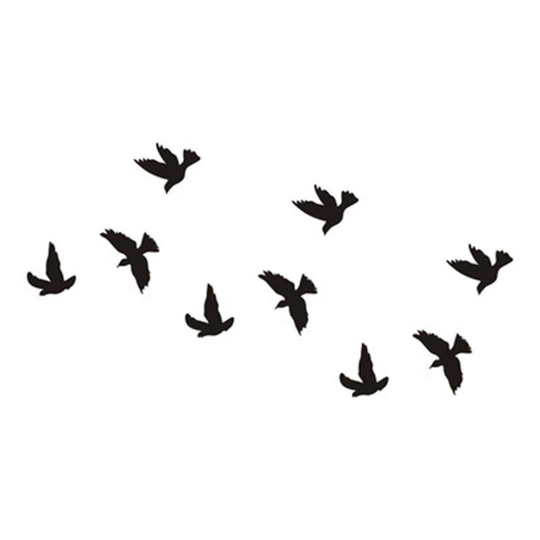URSING Wasserdicht Adler-Feder-Schwalbe Temporäre Tattoos 3D Schmetterling Blume gefälschte Ta für Arm Körper Rücken Bein temporäre Tätowierungs-Art- und Weisekörper-Kunst-Aufkleber