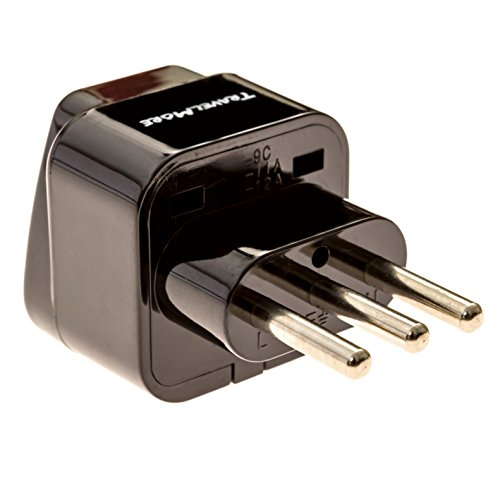 Italy Travel Power Adapter For TYPE L Plug - Works With Italian Electrical Outlets And Chile Adapter