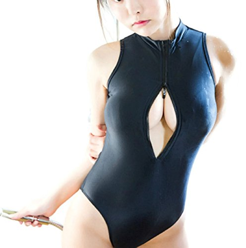 Hot Sale! Su ku water Japanese school swimwear lolita girl student sexy cosplay One-piece zipper swimming Suit (XS, Dark (Sexy Polar Bear Costume)
