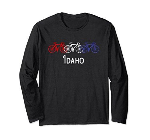 Unisex Red White Blue Bicycles Idaho Long Sleeve T-Shirt XL (Idaho Long Sleeve)