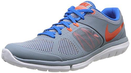 Nike Flex 2014 Rn 642791-017 Herren Sportschuhe Grijs (mgnt Gry / Tm Orng Pht-bl-hypr C)