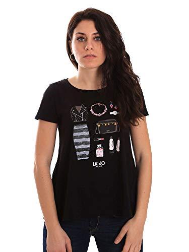 shirt W19421j9122 Nero jo Donna T Liu q51t8Xt