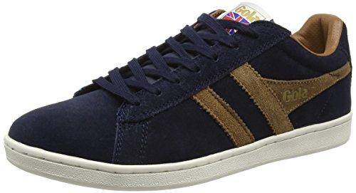 Gola Herren Equipe Suede Sneaker, Schwarz, One Size Blau (Navy/Tobacco Ef)
