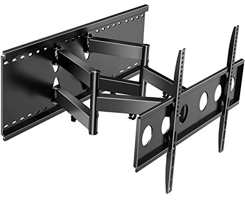 PERLESMITH Full Motion TV Wall Mount for Most 37-80 Inch TVs up to 132lbs Max VESA 600×400, Fits for 16-24 Inch Wood Studs, with Cable Management and Extends up to 22 Inch