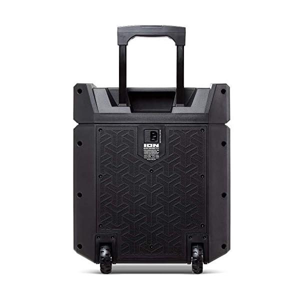 ION Audio - Block Rocker Plus - Enceinte Bluetooth Portable 100 W, Batterie, Radio AM / FM, Entrée AUX, Roulettes et Poignée Télescopique, Microphone, Câble et Port USB pour Smartphones et Tablettes 5