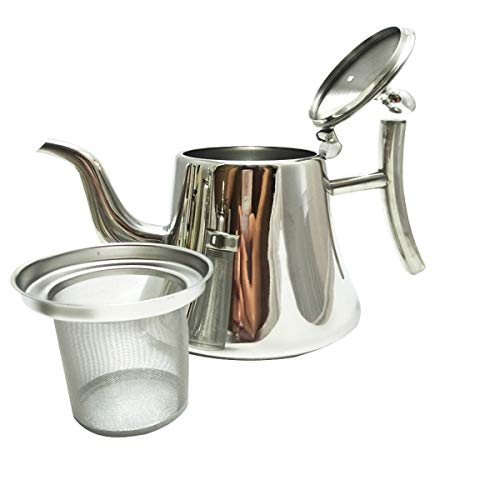 2TRIDENTS 2L Stainless Steel Coffee Percolator - Silver - Ideal for Coffee, Tea, Fruit Juice, Milk, Heat&Cold Retention ()