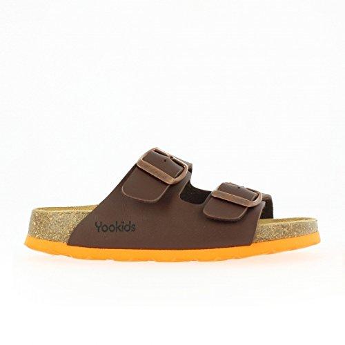 YOOKIDS - Tongs / Sandales - Marelle - Chocolat