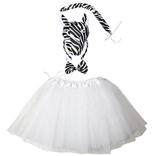 Kirei Sui White Zebra 3D Costume Tutu Set
