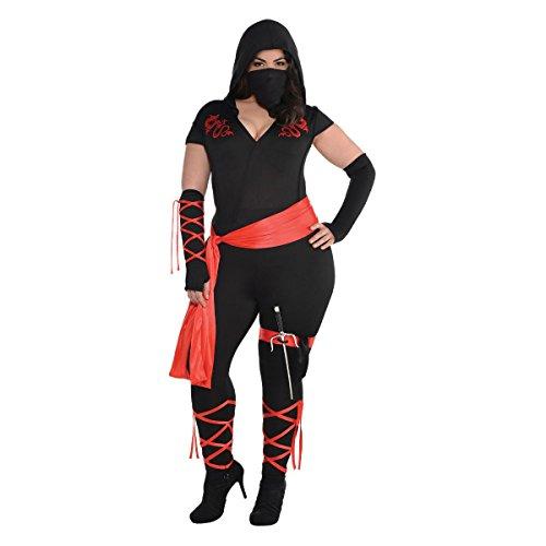 Dragon Ninja Costume Womens (Dragon Fighter Ninja Costume - Plus Size - Dress Size 18-20)