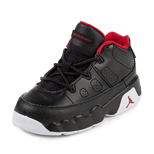 jordan infant shoes. nike jordan toddlers air 9 retro low bt black/gym red/white basketball shoe 6 infants us infant shoes
