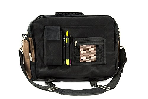 Everest Xtreme Deluxe Laptop Messenger Bag, Brown/Black, One Size