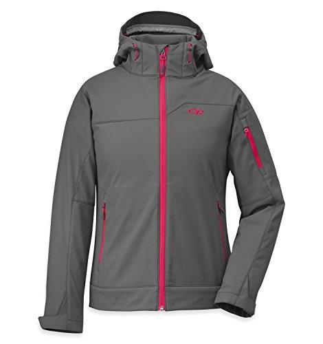 Outdoor Research Women's Transfer Hooded Jacket, Pewter/Desert Sunrise, ()