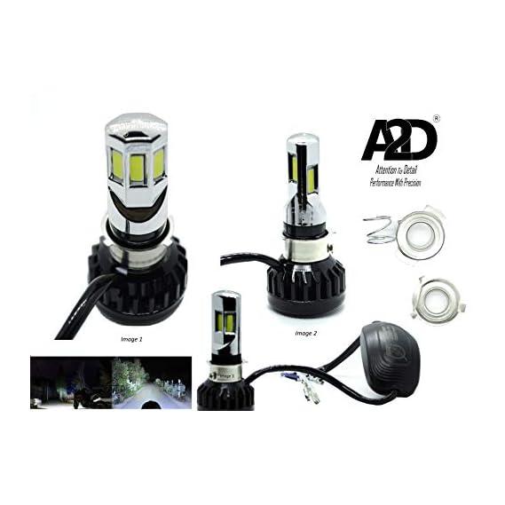 A2D 12V / 25W M6 Full Cobe H4 / HS1 Mi-6 Ultra Bright Bike LED Headlight Bulb KIT 6000K High-Low Beam-White for Suzuki