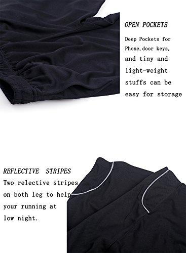 ZENGVEE Men's Sweatpants with Zipper Pockets Open Bottom Athletic Pants for Jogging, Workout, Gym, Running, Training