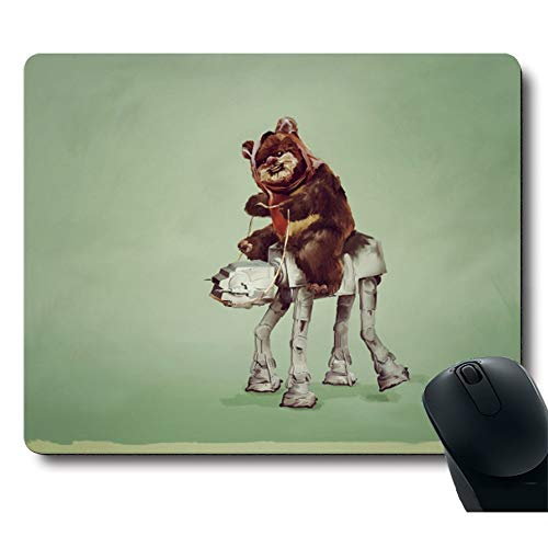 Cute Bear Riding a Wooden Camel with Gun Funny Personalized Custom Gaming Mouse Pad