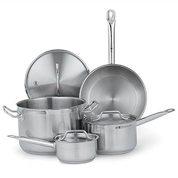 Profesional de la cocina utensilios de cocina 7 piezas acero inoxidable Inducción para ollas, sartenes cocina y regalos para vacaciones, día de Acción de ...