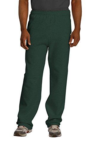 Sportoli174; Men's Essential Basic Open Bottom Lightweight Fleece Jogger Sweatpants - Forest Green (Size XXX-Large)