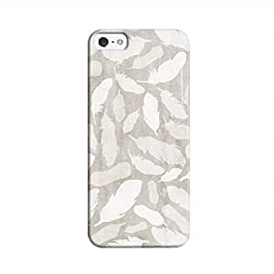 Cover It Up - Feather Grey Print iPhone 5c Hard Case