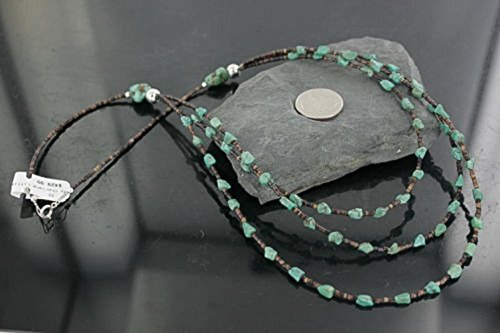 $430 Retail Tag Authentic 3 Strand Made by Charlene Little Navajo Silver Turquoise Native American Multistrand Necklace (Strand Three Necklace Turquoise)