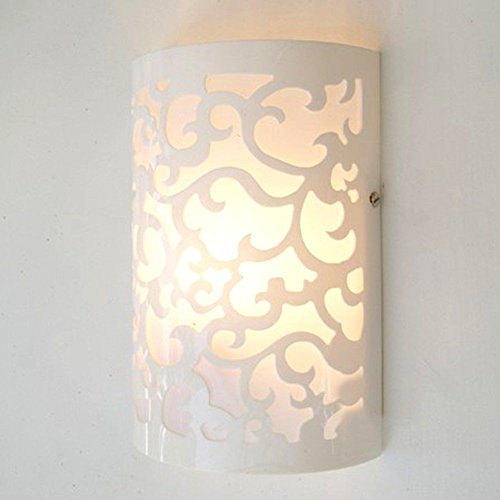 Modern Up & Down Cut Curved White Wall Light Sconce Lighting Lamp Indoor Room 3W