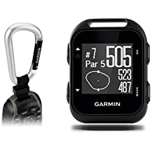Garmin Approach G10 Golf GPS with Garmin Lanyard Carabiner & Belt Clip | Pocket-Sized Handheld GPS Bundle