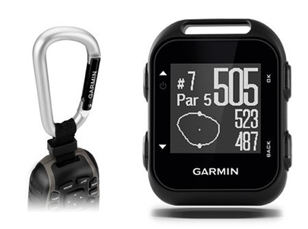 Garmin Approach G10 Golf GPS with Garmin Lanyard Carabiner & Belt Clip | Pocket sized Handheld GPS Bundle