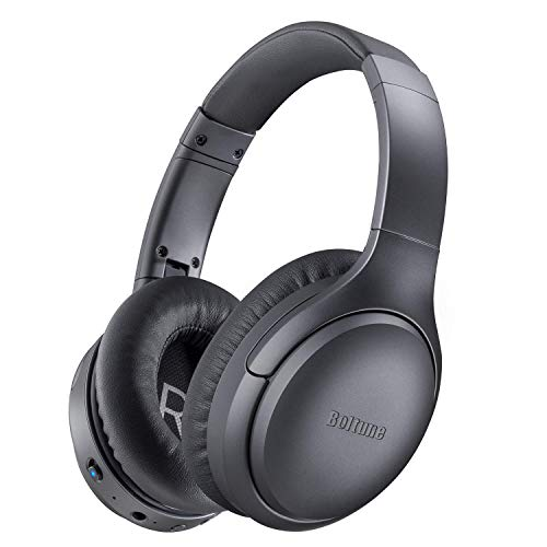Active Noise Cancelling Headphones, Boltune[2020 Upgrade] Bluetooth 5.0 Over Ear Wireless Headphones with Mic Deep Bass…
