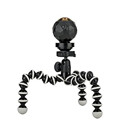 JOBY GorillaPod Hybrid Tripod for Mirrorless and 360 Cameras - A Flexible, Portable and Lightweight Tripod With a Ball Head and Bubble Level by Joby
