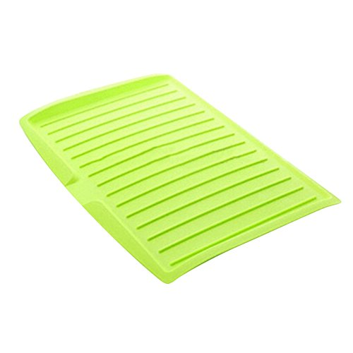 Escolourful Plastic Drying Rack Dish Drainer Tray Mat Kit