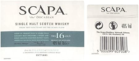 SCAPA - Scapa 16 ans 70cl 40°