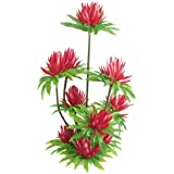 Jardin Plastic Simulated Water Lily Lotus Plant Aquarium Ornament, 10-Inch, Red