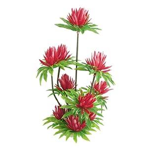 Jardin Plastic Simulated Water Lily Lotus Plant Aquarium Ornament