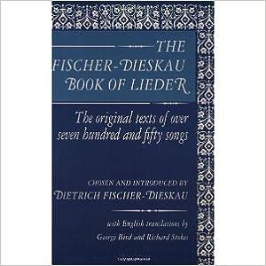 Book The Fischer-Dieskau Book of Lieder [2004] Reprint Ed. Dietrich Fischer-Dieskau