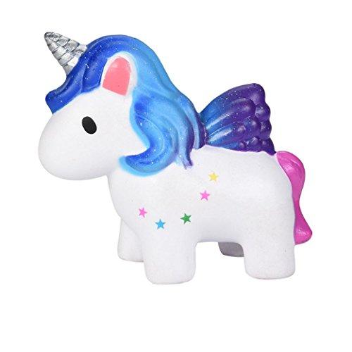 VNEIRW_Toys 2018NEUF Squishy jouet, Vneirw Rainbow Pegasus Jumbo parfumé Squishies lent Rising bébé Jouets Squeeze jouet peluches soulager le stress Jouets Collection mignon cadeau
