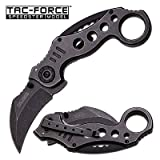 TAC FORCE Spring Assisted Karambit Pocket Knives BLACK Blade Tactical