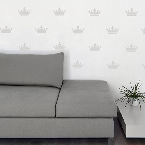 Queen Crown Decal Vinyl Home Decor Stickers Royalty Shape Design, Wallpaper Substitute