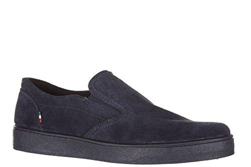 Armani Jeans slip on homme en daim sneakers blu