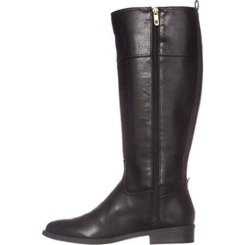 Tommy Hilfiger Women's Ilia2 Black Leather Riding Boots (7.5, Black)