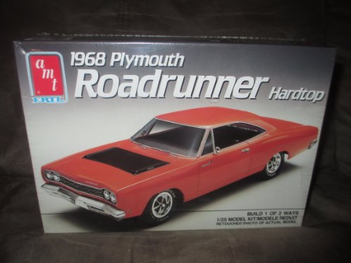 (#6515 AMT 1968 Plymouth Roadrunner Hardtop 1/25 Scale Plastic Model Kit,Needs Assembly)