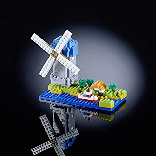 "Brixies ""Windmill 3D-Motif Building Blocks (Multi-Colour)"
